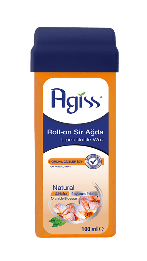 Agiss Enthaarung Roll-On Wachs Natural (100ml)